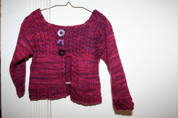 Very Pink (& Purple) Toddler Sweater